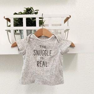 THREE MONTH CUTE TEE THE SNUGGLE IS REAL